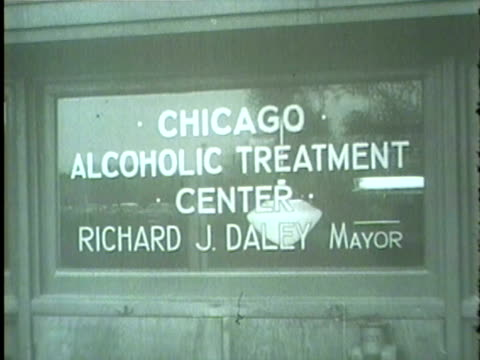 new chicago alcoholic treatment center opens in 1958. daley speaks to a group. - 1958 stock videos & royalty-free footage
