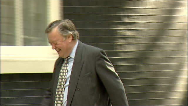first cabinet meeting arrivals iain duncan smith mp ken clarke mp and dominic grieve arriving / cheryl gillan mp arriving in car then david laws mp... - dominic grieve stock videos and b-roll footage