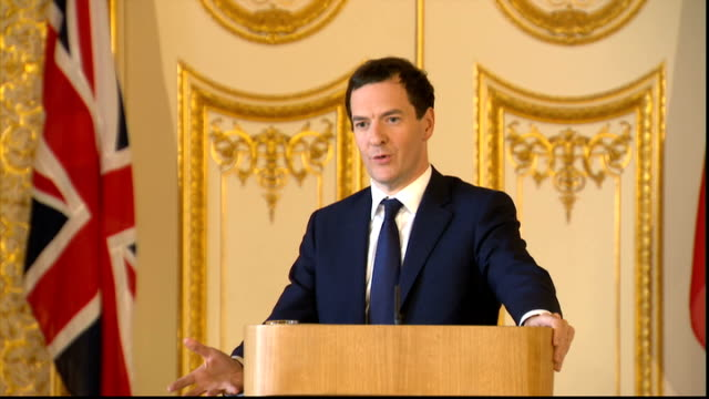 new commercial deals between british and chinese firms george osborne holds q a session england london lancaster house int george osborne mp... - chinese currency stock videos & royalty-free footage