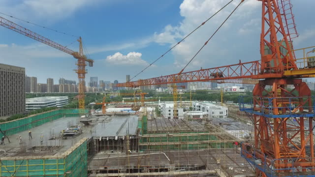 new constructions site in modern city - construction site stock videos and b-roll footage