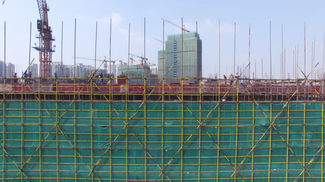 new constructions site in modern city.