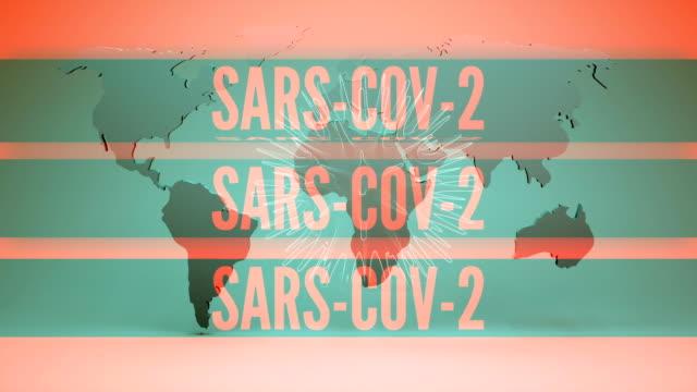 new coronavirus sars-cov-2 background animation - herpes video stock e b–roll