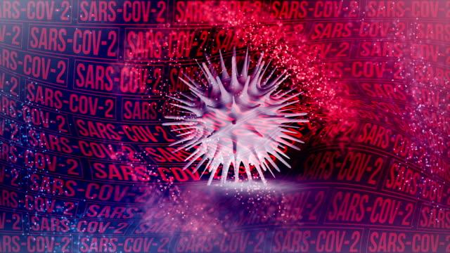 nuova animazione di sfondo coronavirus sars-cov-2 - herpes video stock e b–roll