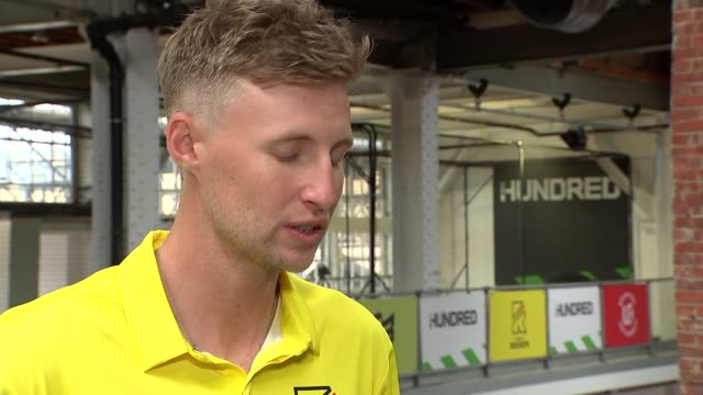 new cricket competition the hundred launched england london int joe root interview sot - cricket stock videos & royalty-free footage