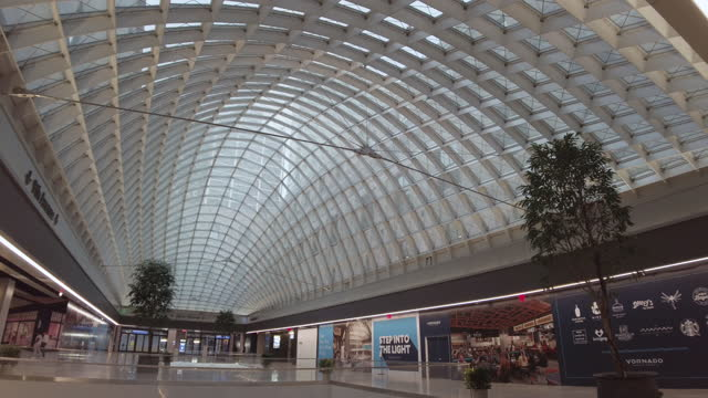 new daniel patrick moynihan train hall penn station expansion building interior upper level without people. filmed during the coronavirus pandemic .... - new york city penn station stock videos & royalty-free footage