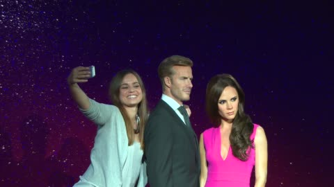 new david beckham and victoria beckham figures unveiled at madame tussauds at madame tussauds on june 19, 2014 in london, england. - madame tussauds stock videos & royalty-free footage