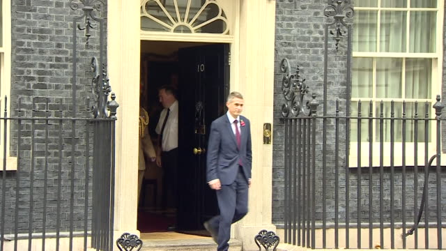 New Defence Secretary Gavin Williamson walking to the Ministry of Defence building in Whitehall