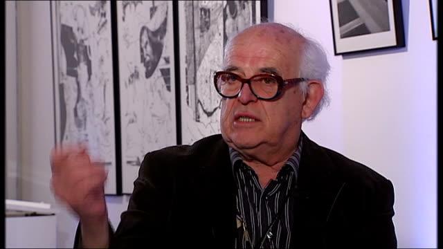 new documentary charts the life of cartoonist ralph steadman; england: london: int ralph steadman reporter ralph steadman interview sot - says his... - cartoonist stock videos & royalty-free footage
