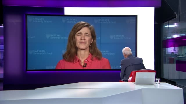 New documentary follows Barack Obama's foreign policy team during his final year ENGLAND London GIR INT Samantha Power 2WAY interview from Harvard SOT