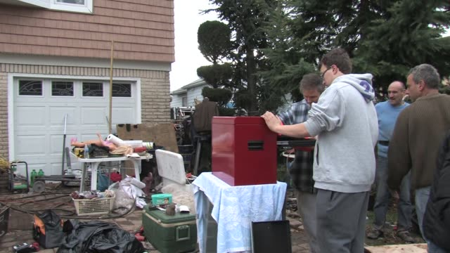 New Dorp Staten Island after Hurricane Sandy on November 02 2012 in Staten Island New York