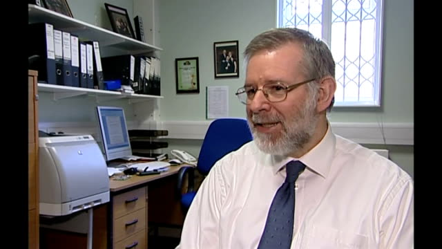 new drug may reduce fractures for osteoporosis sufferers; dr richard eastell interview sot - osteoporosis stock videos & royalty-free footage