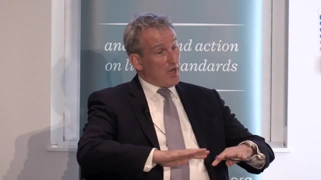 new education secretary damian hinds gives a speech at the resolution foundation in london and clashes with a reporter over the government's track... - damian hinds stock videos and b-roll footage