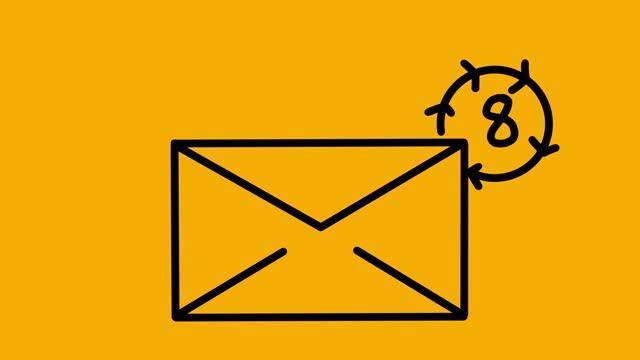 animering av ny e-postruta - e post bildbanksvideor och videomaterial från bakom kulisserna
