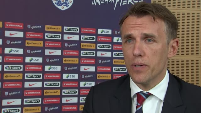 New England Women's coach Phil Neville holds first news confence Phil Neville interview SOT I've worked with the best players in the game joint...