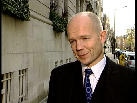 london william hague mp interviewed sot this is a poor deal for britain can anyone imagine what anyone had happened if french had legal entitlement... - will.i.am stock videos & royalty-free footage