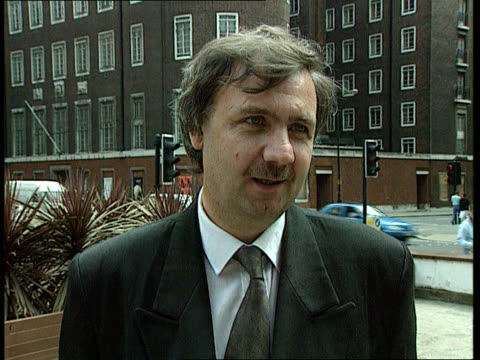 new evidence; 'derbyshire': new evidence; ext england london dept of transport cms paul lambert intvw sot - upsetting to see stern and quarters/ )... - derbyshire stock-videos und b-roll-filmmaterial