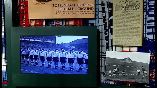 New exhibition exploring relationship between British Jews and football ENGLAND London INT 'England v Germany' poster on display at exhibition Joanne...