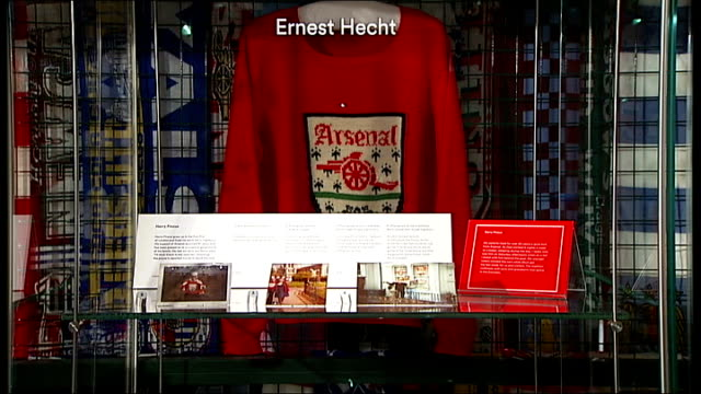 new exhibition exploring relationship between british jews and football england london old football poster advertising match between england and... - soccer goalkeeper stock videos & royalty-free footage