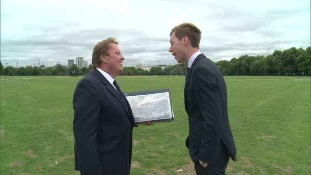 new exhibition tracing history of london's royal parks daniel hearsum interview sot - durchpausen stock-videos und b-roll-filmmaterial