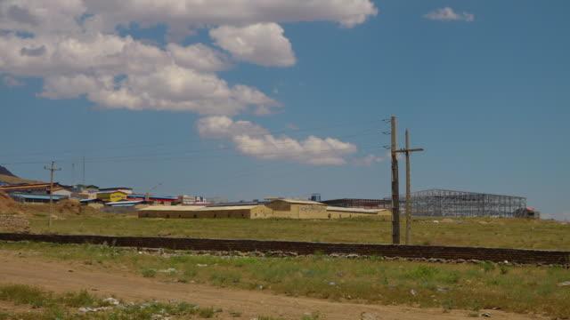 new factory construction in azerbaijan - erezione video stock e b–roll