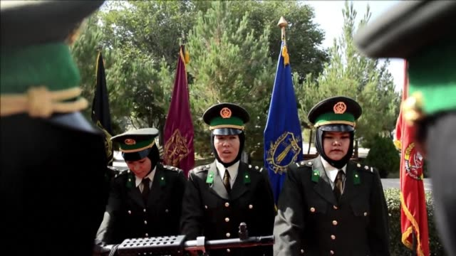 new female officers graduate at the afghan national army training centre - afghan national army stock videos and b-roll footage