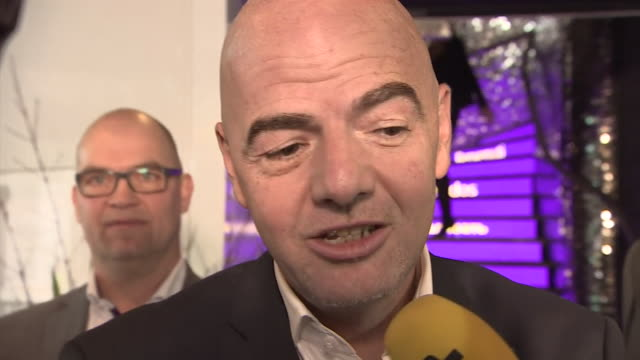 vídeos de stock, filmes e b-roll de new fifa president gianni infantino talking about what he said to delegates before the second round of voting - gianni infantino