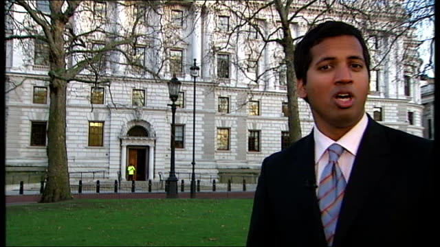 new figures confirm recession fears england london treasury ext reporter to camera - recession stock videos & royalty-free footage