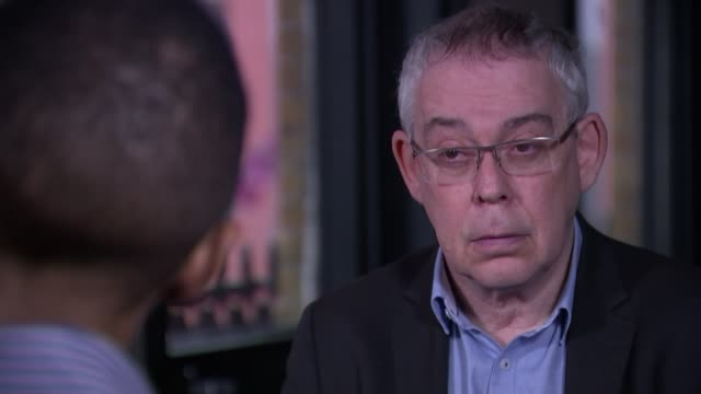 New figures show steep increase in fatal stabbings in London ENGLAND London INT Paul Barnes interview SOT EXT Police cordon tape blowing in wind Tent...