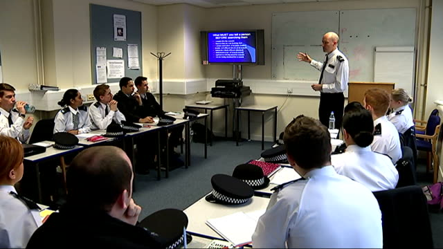 New figures suggest 'stop and search' policy is ineffective ENGLAND EXT Various shots police training exercise with 'stop and search' carried out on...