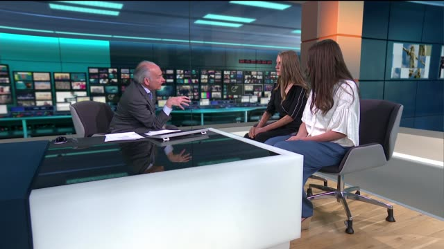 new film 'dirty god' tackles subject of acid attacks england london gir int vicky knight and sacha polak studio interview sot - itv lunchtime news stock videos and b-roll footage