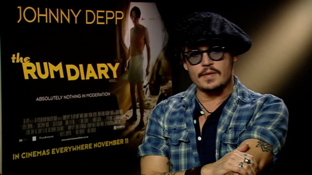 london int johnny depp interview sot i've been coming here for so long and spent so much time here over the years that i just developed this love... - johnny depp stock videos and b-roll footage