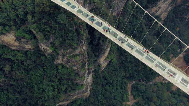 Nuevo puente de vidrio de Hunan China
