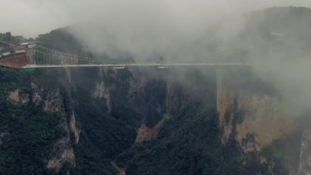 Nieuwe glazen brug van Hunan China