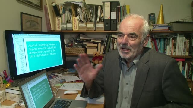 new government guidelines on alcohol consumption sir david spiegelhalter interview sot/ king's college london various of scientist at work in... - guidance stock videos & royalty-free footage