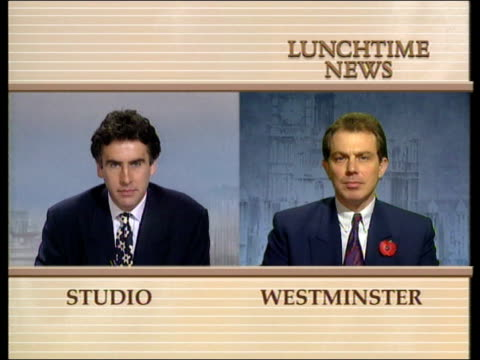new government legislation against squatters; england: london: westminster: cms tony blair mp intvwd sot - i hope the govt shows the same energy in... - ダーモット・マーナハン点の映像素材/bロール