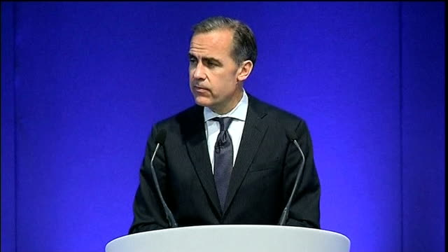 new governor of the bank of england's first speech mark carney speech sot thinking unemployment will come down faster isn't enough to believe that... - ファイサル・イスラム点の映像素材/bロール