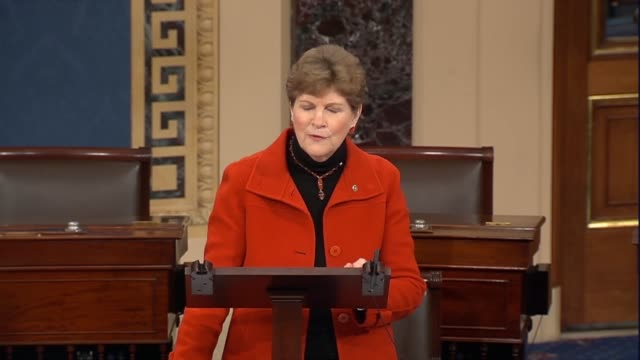 new hampshire senator jeanne shaheen says on the 18th day of a partial government shutdown that one of congress most fundamental constitutional... - legislation stock videos & royalty-free footage
