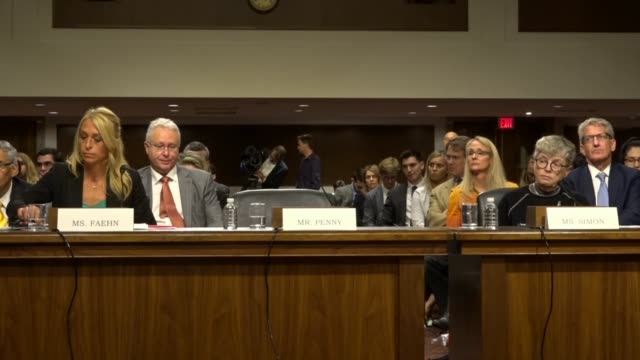 New Hampshire Senator Maggie Hassan tells witnesses Rhonda and Simon at a Senate Commerce subcommittee hearing on abuse of Olympic athletes culture...