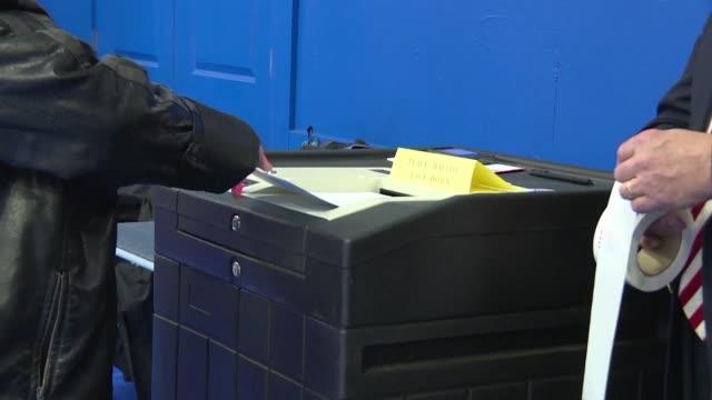 vídeos y material grabado en eventos de stock de new hampshire voters continued to head to the polls on tuesday as the states primary election gets under way - primary election