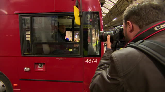 new health secretary sajid javid sitting in the driver seat of a double-decker bus - double decker bus stock videos & royalty-free footage