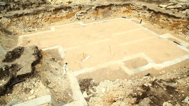 new home construction basement concrete foundation footings - home basement stock videos and b-roll footage