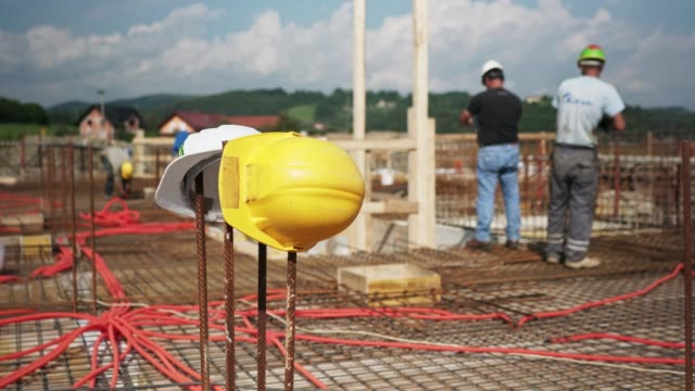new home construction site - cement mixer stock videos and b-roll footage