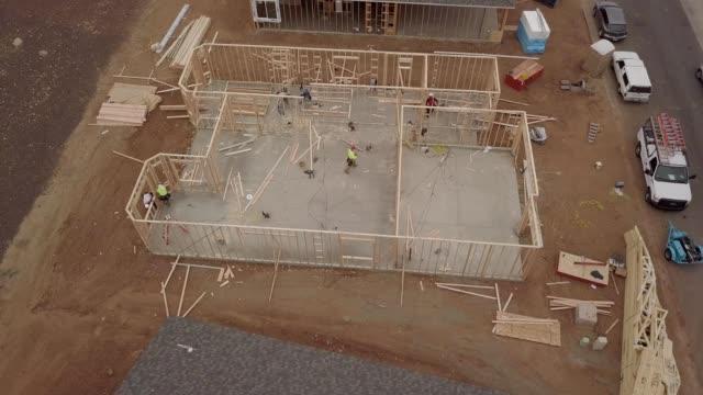 new home framing construction quailwood dewey arizona - home ownership stock videos & royalty-free footage