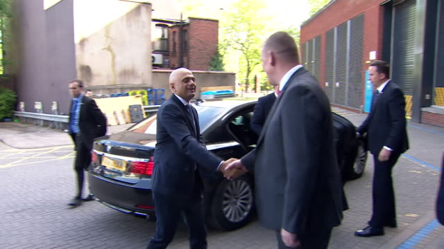new home secretary sajid javid arriving in birmingham before his first speech to the police federation of england and wales - home secretary stock videos & royalty-free footage