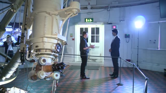 New Horizons probe approaches Pluto ENGLAND London Royal Observatory INT Setup shots of astronomer Brendan Owens and reporter Brendan Owens interview...