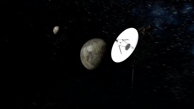 new horizons space probe at pluto - solar system stock videos & royalty-free footage