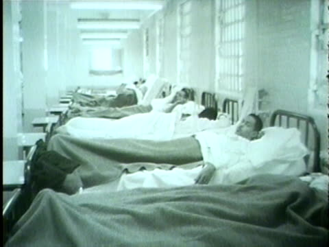 vídeos de stock, filmes e b-roll de wgn new hospital at cook county jail in january 1958 - 1958