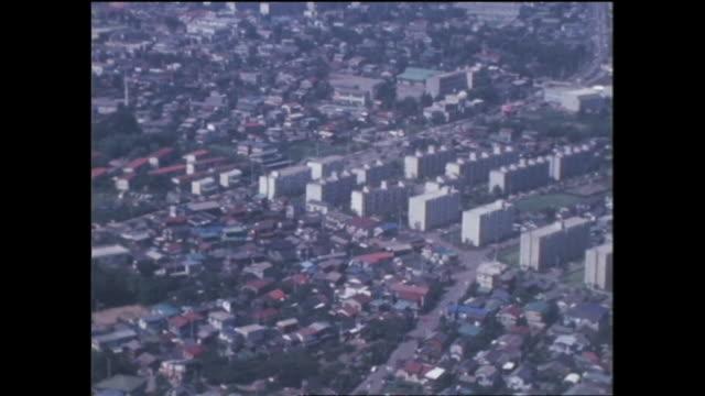 1969 new housing complex in kanagawa,japan - 1960~1969年点の映像素材/bロール