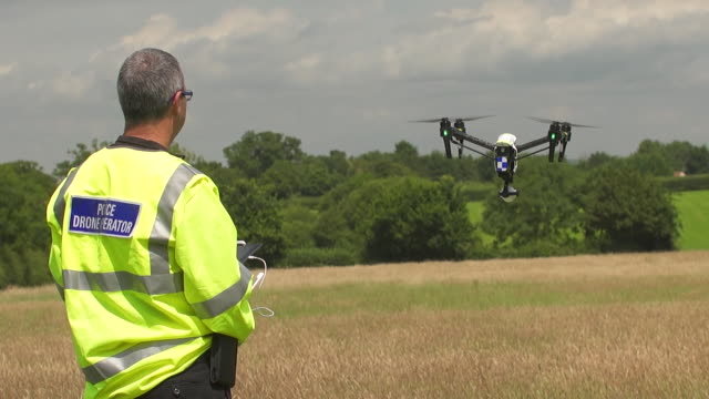 A new initiative being trialled by Devon Cornwall Police is the use of Police Drones for cost effective aerial surveillance Shots of flight 3