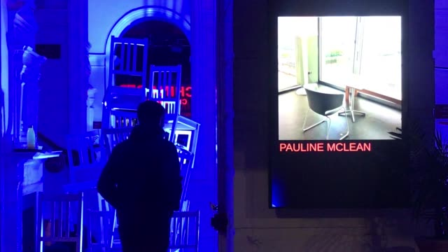 new installation titled #takeaseat in the foyer of the royal lyceum theatre in edinburgh to celebrate scotland's missing theatre and to let audiences... - live and let live film title点の映像素材/bロール